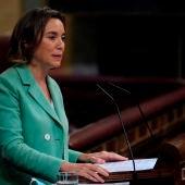 La portavoz del Partido Popular en el Congreso, Cuca Gamarra, durante la sesión del pleno del Congreso