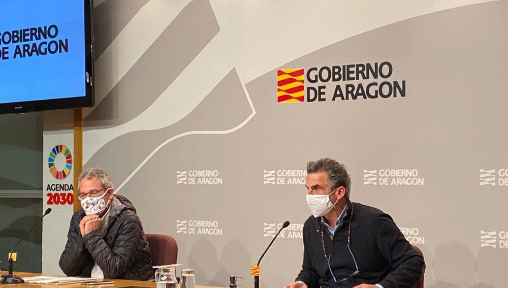 Director general de Salud Pública, Francisco Javier Falo, y de Asistencia Sanitaria, José María Abad