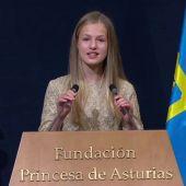 Vídeo Discurso completo de la Princesa Leonor en los Premios Princesa de Asturias 2020