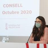 Mónica Oltra Pleno Consell mascarilla