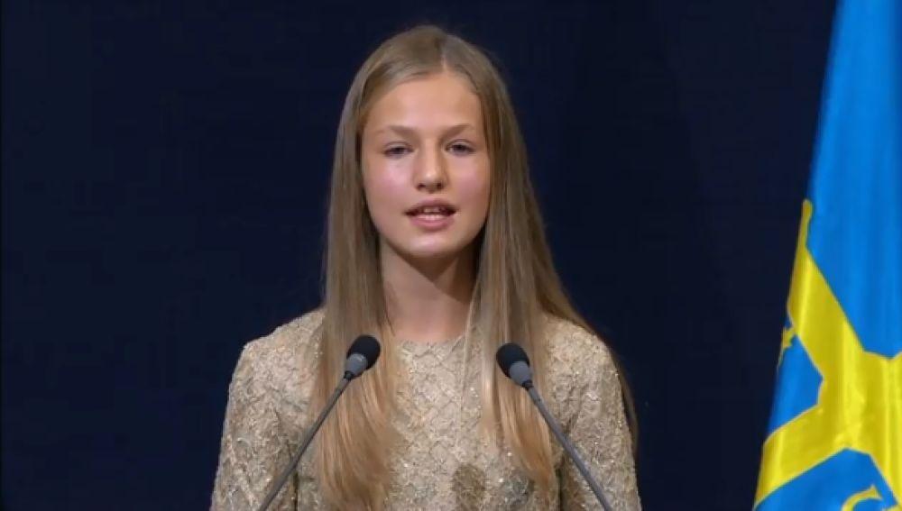 La Princesa Leonor, en los Premios Princesa de Asturias 2020