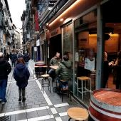 Terrazas de algunos de los bares del Casco Viejo de Pamplona