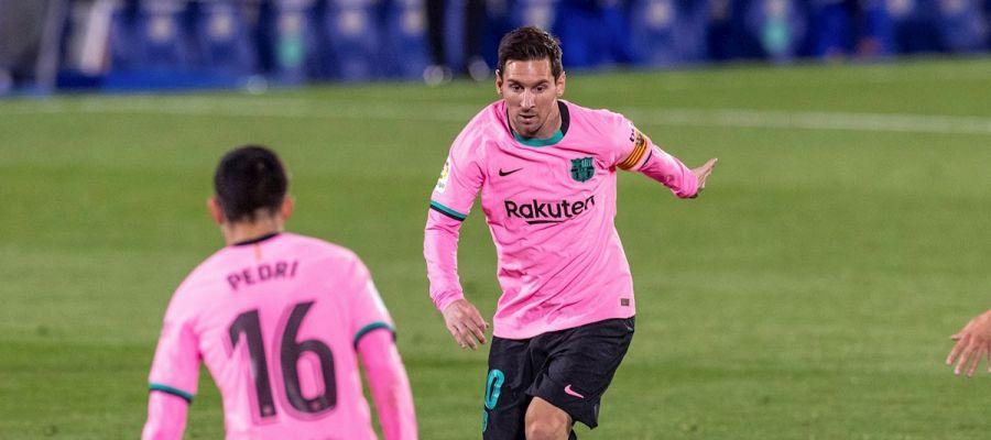 Leo Messi jugando con el Barcelona