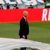 Zinedine Zidane, durante un partido del Real Madrid