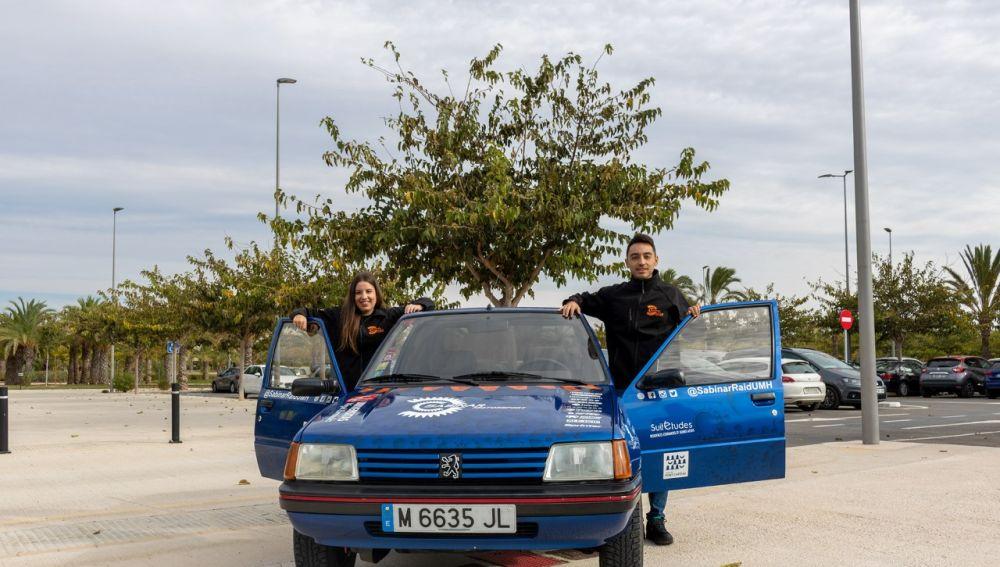 Ana Ramos y Borja Gallud, del equipo Sabinar Raid UMH.