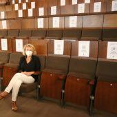 Lola Campos, delegada de Cultura, en el Teatro