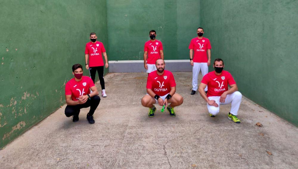 El equipo del Prefabricados Duyba, del Club Frontenis Elche.