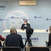 Prieto, durante una rueda de prensa en Cuenca