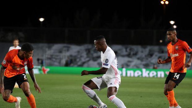 Vinicius, en el partido ante el Shakhtar.