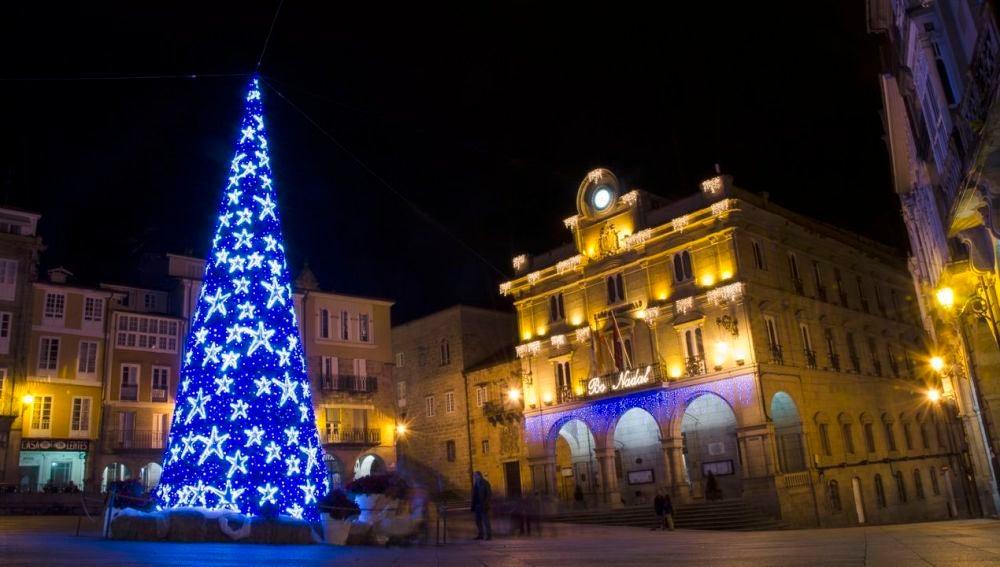 luces de navidad no concello de ourense