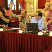 Diputados provinciales de Adelante Cádiz en una foto de archivo