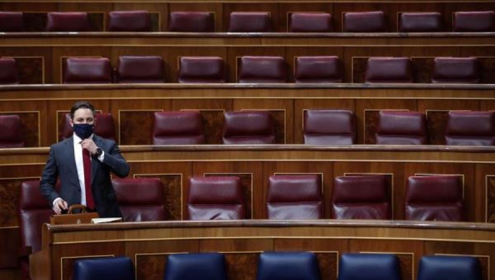 Santiago Abascal en el Congreso de los Diputados