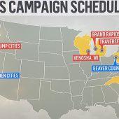 Horario de la jornada de campaña para Biden y Trump.