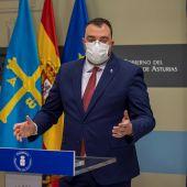 El presidente de Asturias, Adrián Barbón