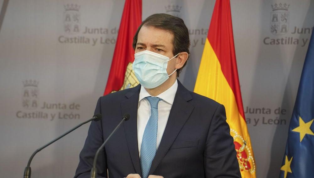 Presidente de la Junta de Castilla y León Alfonso Fernández Mañueco