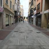 Peatonalización del centro de Elche, en la calle Corredora.