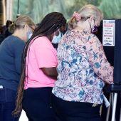 Centro de votación en Florida para las elecciones de Estados Unidos
