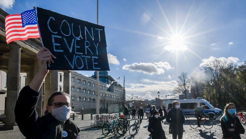 Reacciones al resultado electoral en EEUU en Berlín