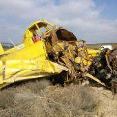 Estado en el que quedó la avioneta tras el accidente