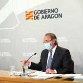 El consejero de Hacienda, Carlos Pérez Anadón, ha presentado el techo de gasto