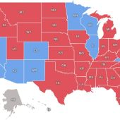 Mapa electoral por estados en EE.UU.