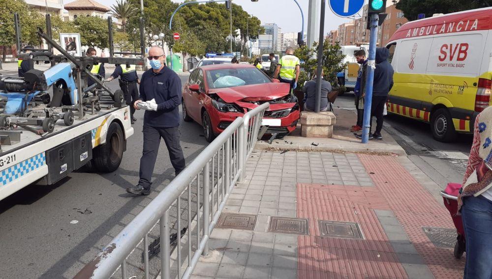 Uno de los vehículo implicados en la colisión