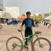 José Carlos Núñez, con el maillot del equipo Garmin.