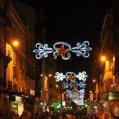 Luces de Navidad en el centro de Cuenca