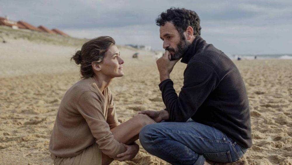 La actriz Marta Nieto y el director Rodrigo Sorogoyen, durante el rodaje de 'Madre'
