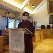 Pilar Zamora, durante la rueda de prensa