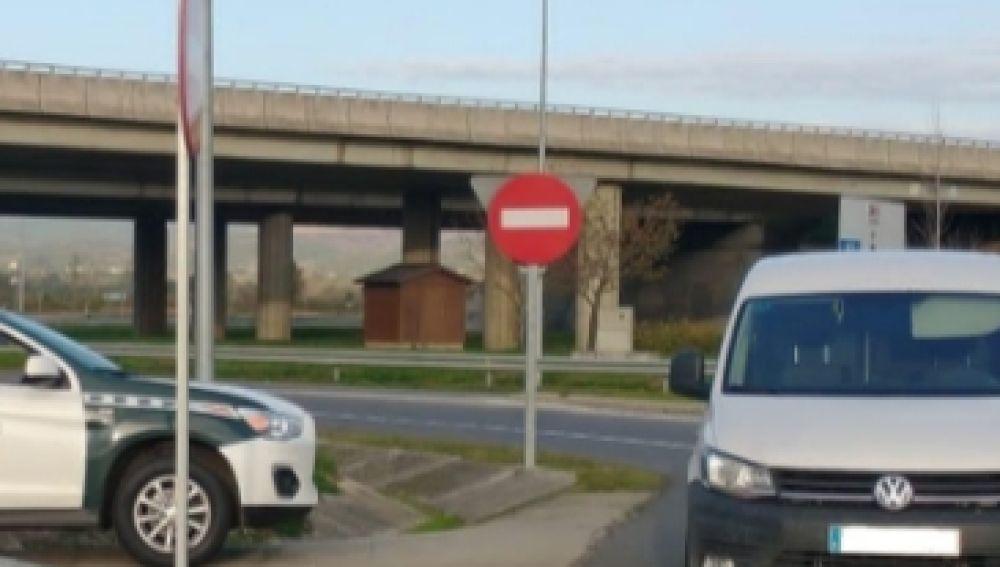 La guardia civil de tráfico de Verín detecto dos veces en el mismo día, a un conductor con alcoholemia positiva