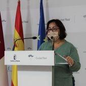 Manuela Nieto-Márquez, durante la rueda de prensa