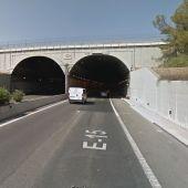Boca del túnel desde la calzada en sentido Valencia