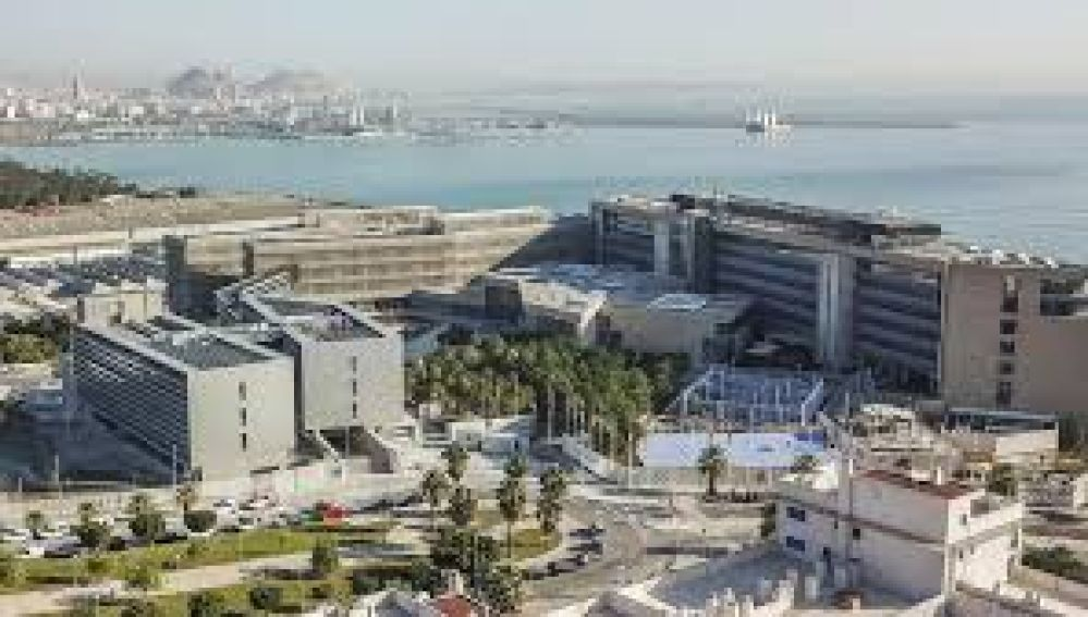 Vista aérea de la sede de la EUIPO en el paraje de Aguamarga de Alicante