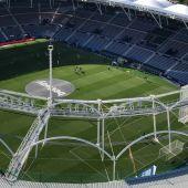 Lugar desde donde los cinco seguidores ilicitanos presenciaron el empate del Elche CF en el estadio Ciudad de Valencia ante el Levante.