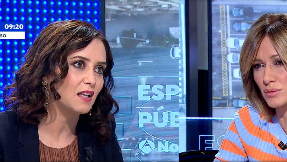 """Ayuso avisa a Rufián y al Gobierno: """"Seré la peor pesadilla de quien quiera tocar el bolsillo a madrileños"""""""