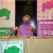 Carmen Quintanilla durante la rueda de prensa
