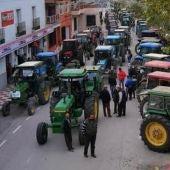 Unos 200 agricultores de Puebla Almuradiel  protestan por subida IBI