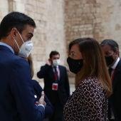 El presidente del Gobierno, Pedro Sánchez, y la presidenta del Govern, Francina Armengol