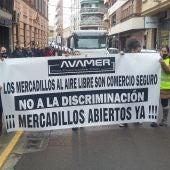 Los vendedores de mercadillos se han manifestado en Ciudad Real