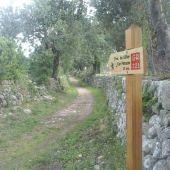 Tramo de la ruta de 'pedra en sec' en la Serra de Tramuntana