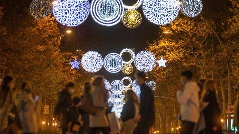 Las luces de Navidad en las calles de Barcelona.