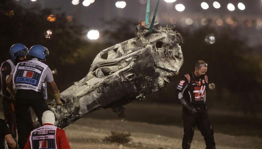El Gran Premio de Baréin, el antepenúltimo del Mundial de F1, que fue interrumpido este domingo en el circuito de Sakhir con bandera roja, nada más darse la salida, a causa del escalofriante accidente del francés Romain Grosjean
