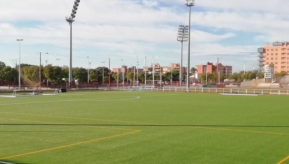 El campo de césped artificial de Altabix estará listo la semana que viene.