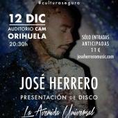 El artista oriolano presenta su disco 'La avenida universal' el próximo día 12