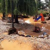 La tormenta originó múltiples destrozos en varias localidades, entre ellas El Picazo