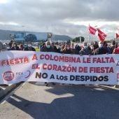 Movilizaciones de trabajadores de Fiesta Colombina, en Alcalá de Henares