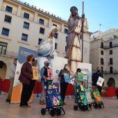 Un momento de la presentación de la campaña en la Plaza del Ayuntamiento