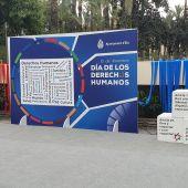 Escenario celebración Día MUndial de los Derechos Humanos en Elche