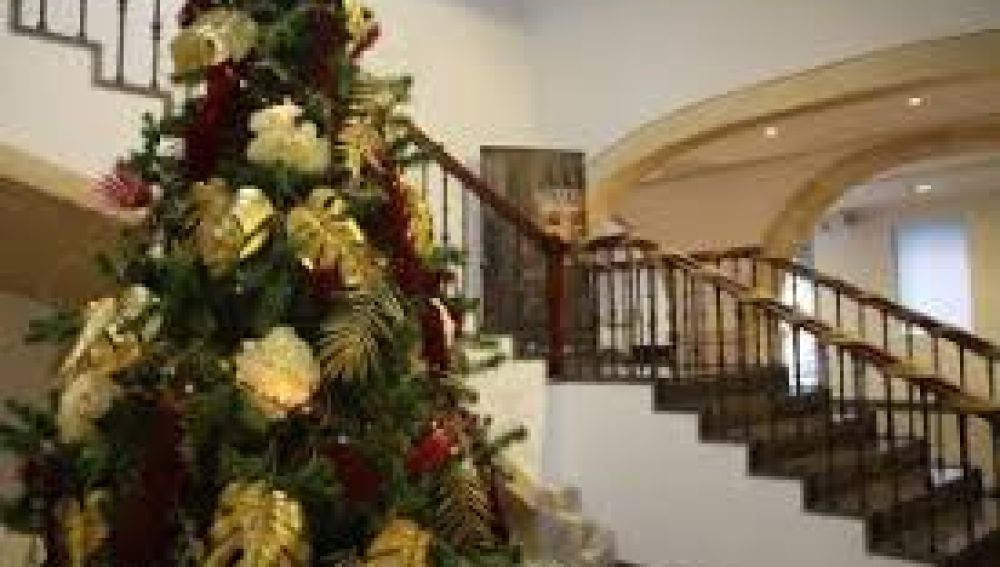 Vestíbulo del MUBAG en Navidad